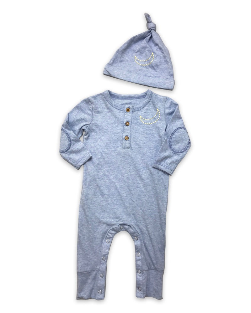 Little Prim Finn Playsuit with Hat