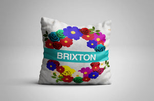 Floral London Underground | Cushion