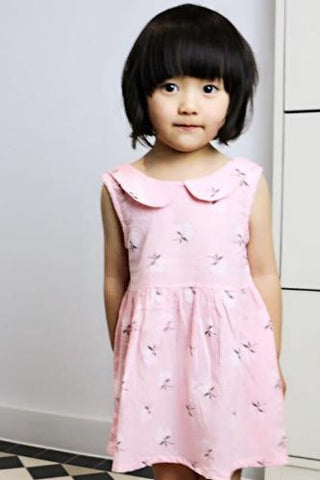Poppy girl dress, Pink