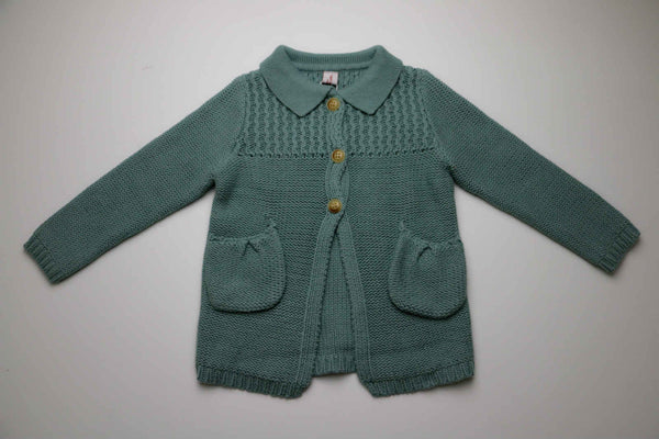 Maya Cardigan, Dusty Blue