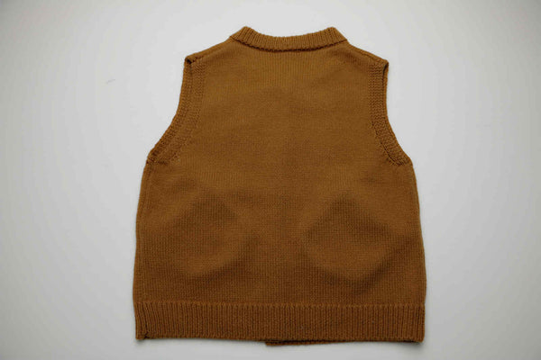 Ali knitted waistcoat, Brown