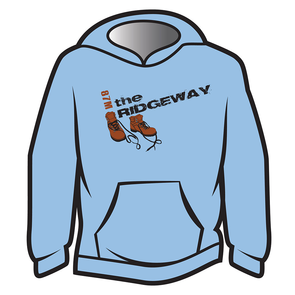 Light Blue The Ridgeway Design 2 Hoodie