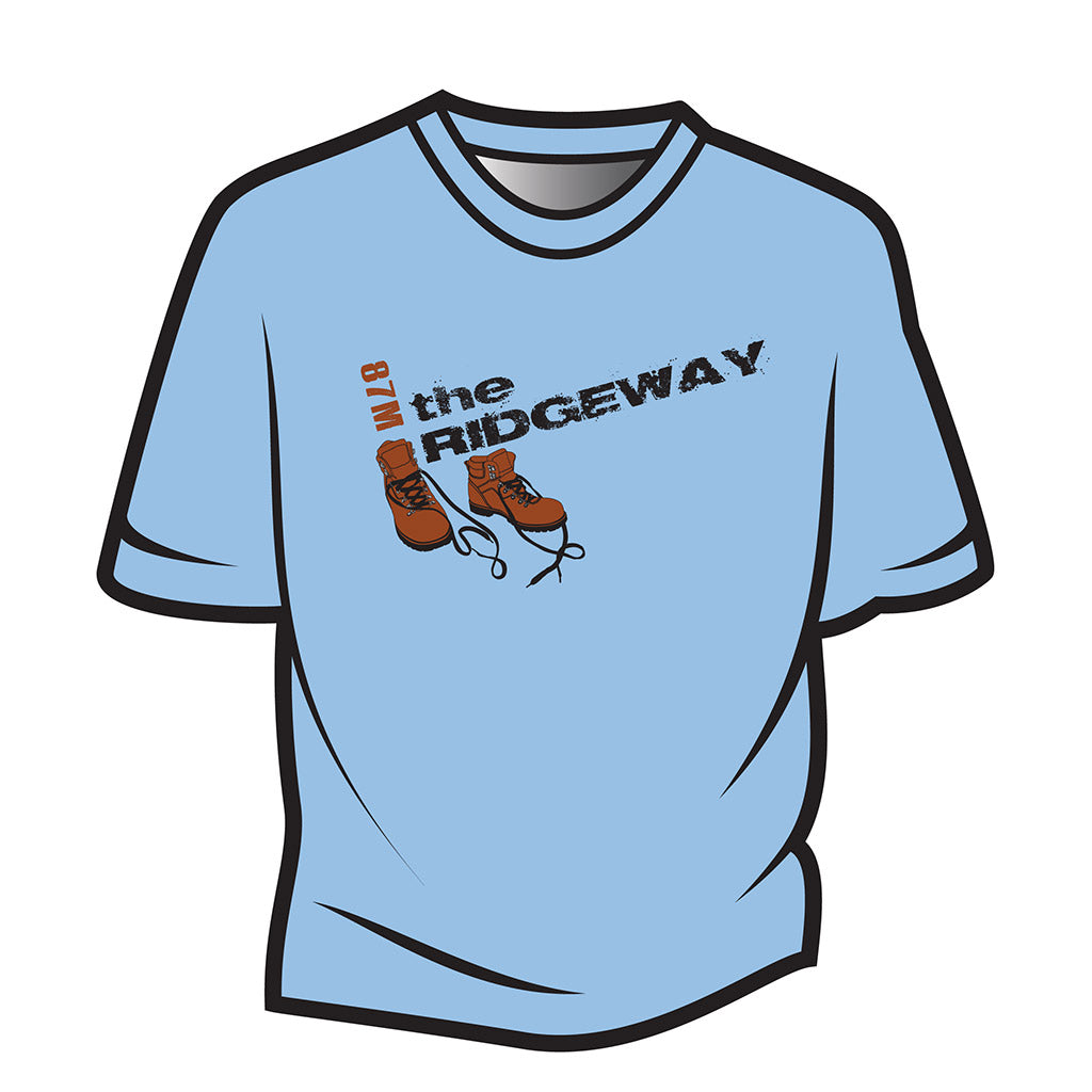 Light Blue The Ridgeway Design 2 T-Shirt