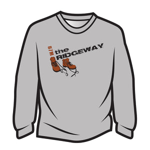 Light Grey The Ridgeway Design 2 Long Sleeve T-Shirt