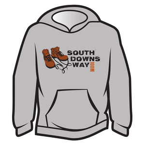 Light Grey South Downs Way Design 2 Hoodie