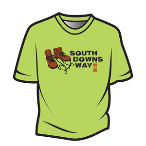 Lime South Downs Way Design 2 T-Shirt