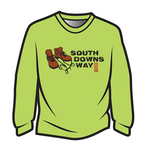 Lime South Downs Way Design 2 Sweatshirt