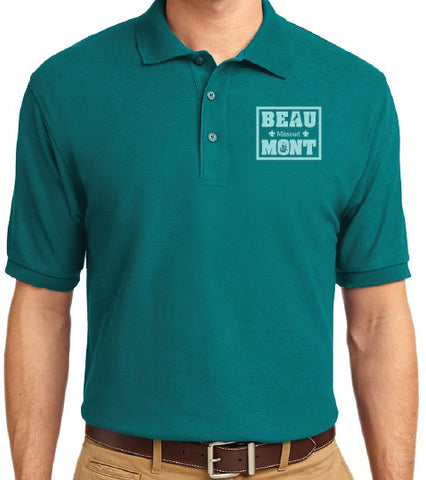 Men's Teal Polo Shirt - Beaumont