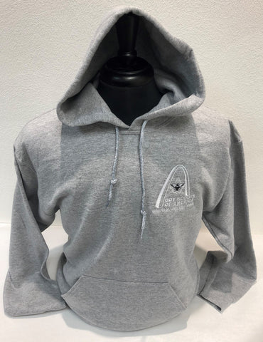 Hoodie - GSLAC Arch - Men's Light Gray - Embroidered Logo
