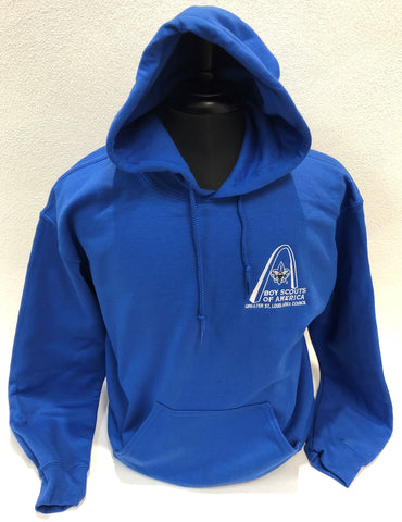Hoodie - GSLAC Arch - Men's Royal Blue - Embroidered Logo