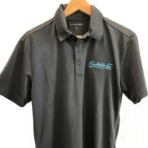 Men's Gray Polo Shirt - S bar F