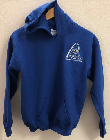 Hoodie - GSLAC Arch - Youth Royal Blue - Embroidered Logo