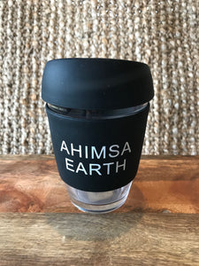 Glass Coffee Cup in Black