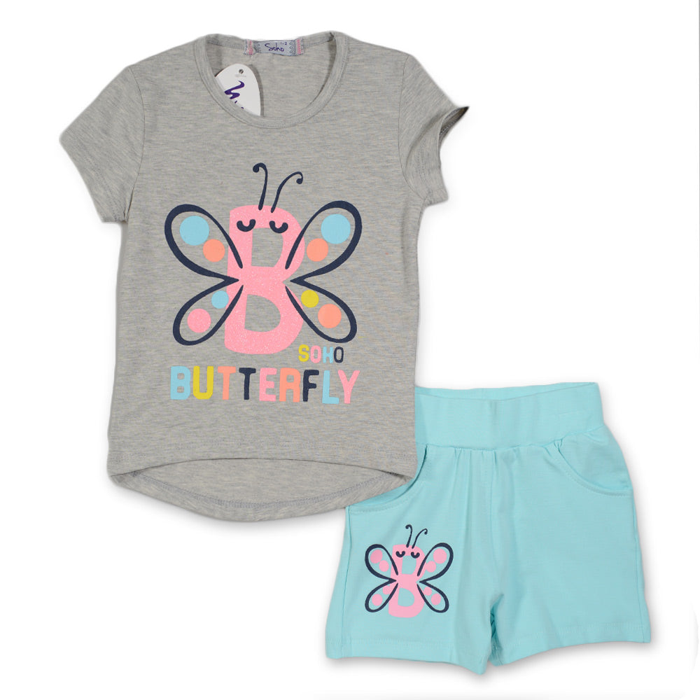 Soho Butterfly Pajama Gray