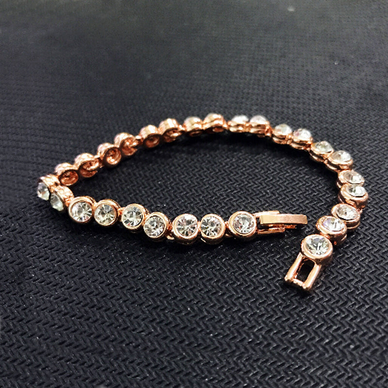 Aubrey Diamante Rose Gold Tennis Bracelet