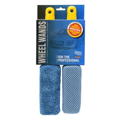 Trade Quality Microfibre Twin Pack Wheel Brush Set