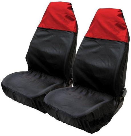 Nylon Seat Protector Set - Black/Red