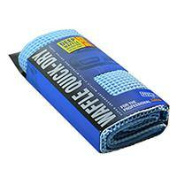 Trade Quality Waffle Quick-Dry Blue Microfibre Drying Towel