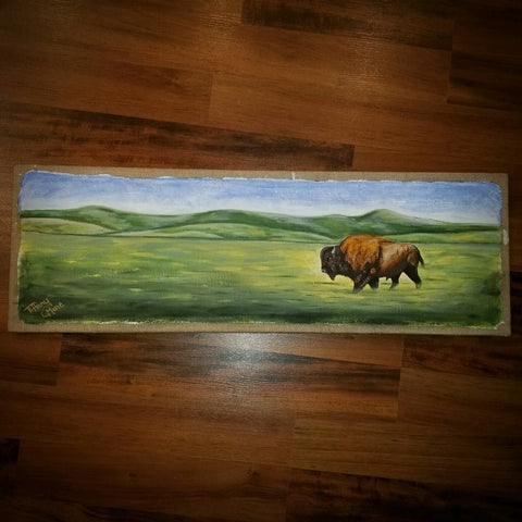 Buffalo on the Prairie - Original Art - Tiffany Marie Art