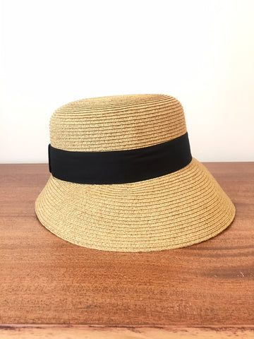 The Jess Boater Straw Hat