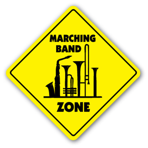 Marching Band Zone Vinyl Decal Sticker