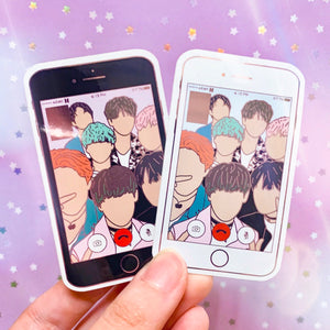 FACETIME Metallic Vinyl Sticker | BTS 방탄소년단 Fanart Stickers