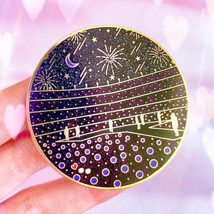 CITI FIELD | BTS Enamel Pin 방탄소년단 Glow in the Dark Glitter Badge