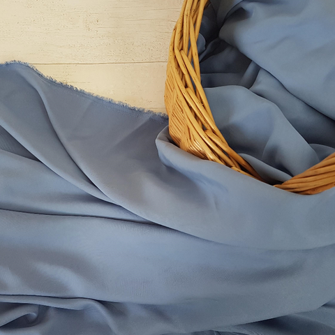 blue sandwashed tencel fabric UK