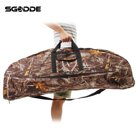 Newest Camo 115cm Compound Bow Bag Archery Arrow Carry Bag Case Outdoor Hunting Holder Pouches Portable Many Compartments