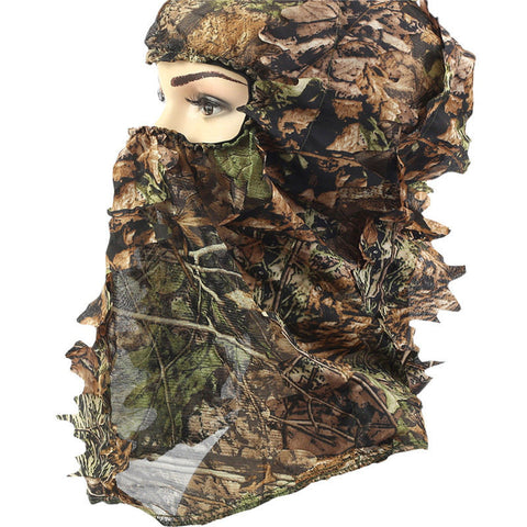 Outdoors Hunting Tactical Camouflage Military Fan Headgear Set of Collar Hat Camo Hunting Cap Face Mask Hunting Accessories