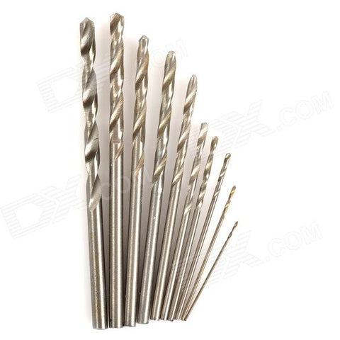 WLXY WL-0530 0.5-3.0mm High-Speed Steel Drill Bit Set - Silver(10PCS)