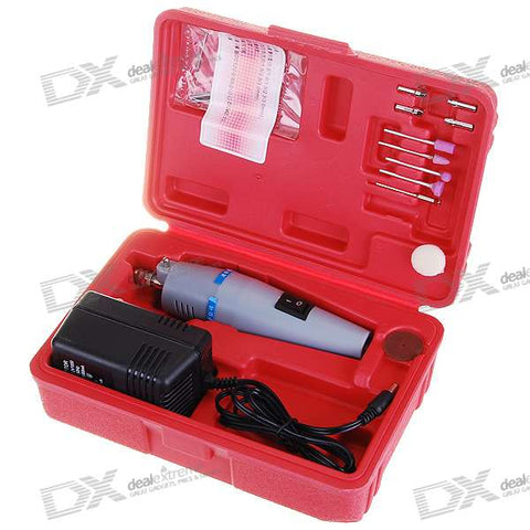 Mini Electronic Drill with Cutting/Sharpening/Polishing Tools Kit