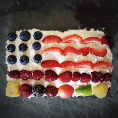 Raw Vegan Nut Free Brownies (4th of July Edition!)