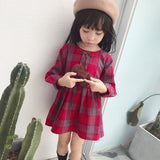 Marcia Plaid Pompom Dress
