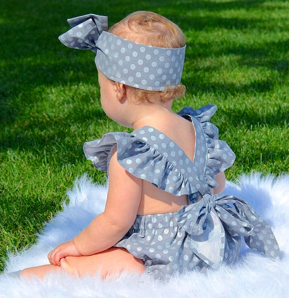 Bluebird Polka Dot Romper Set