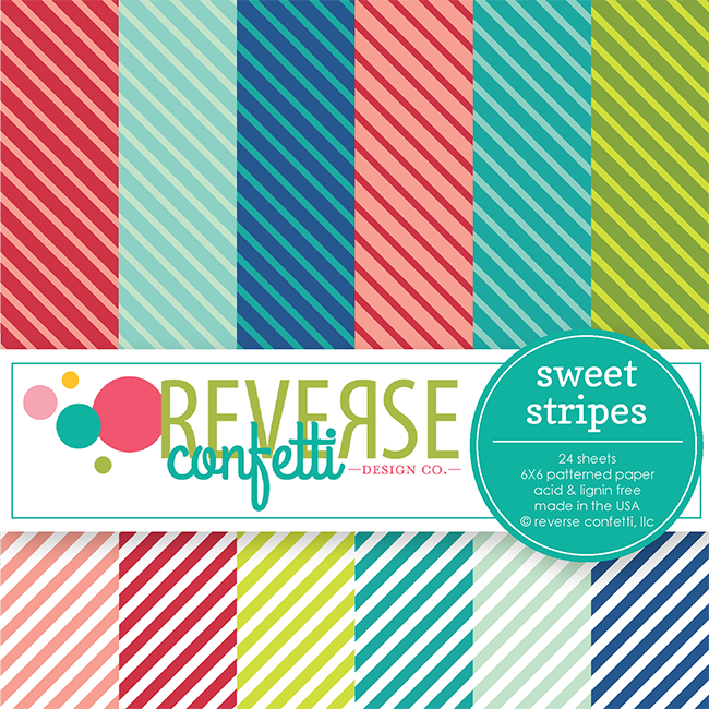 Sweet Stripes 6x6 Paper Pad