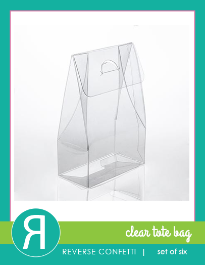 Clear Totes 6-pk
