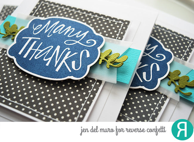 Give Thanks Label Confetti Cuts