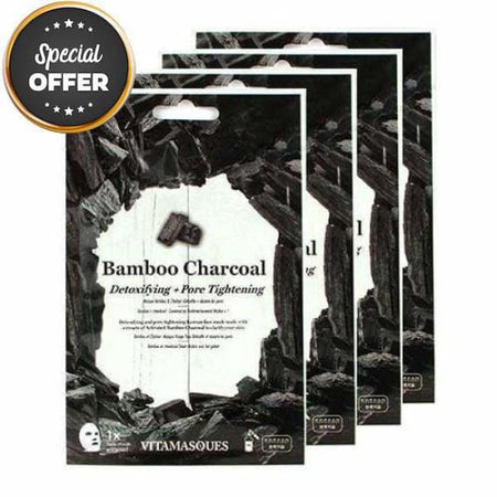 VITAMASQUES Bamboo Charcoal Sheet Masks Multipack