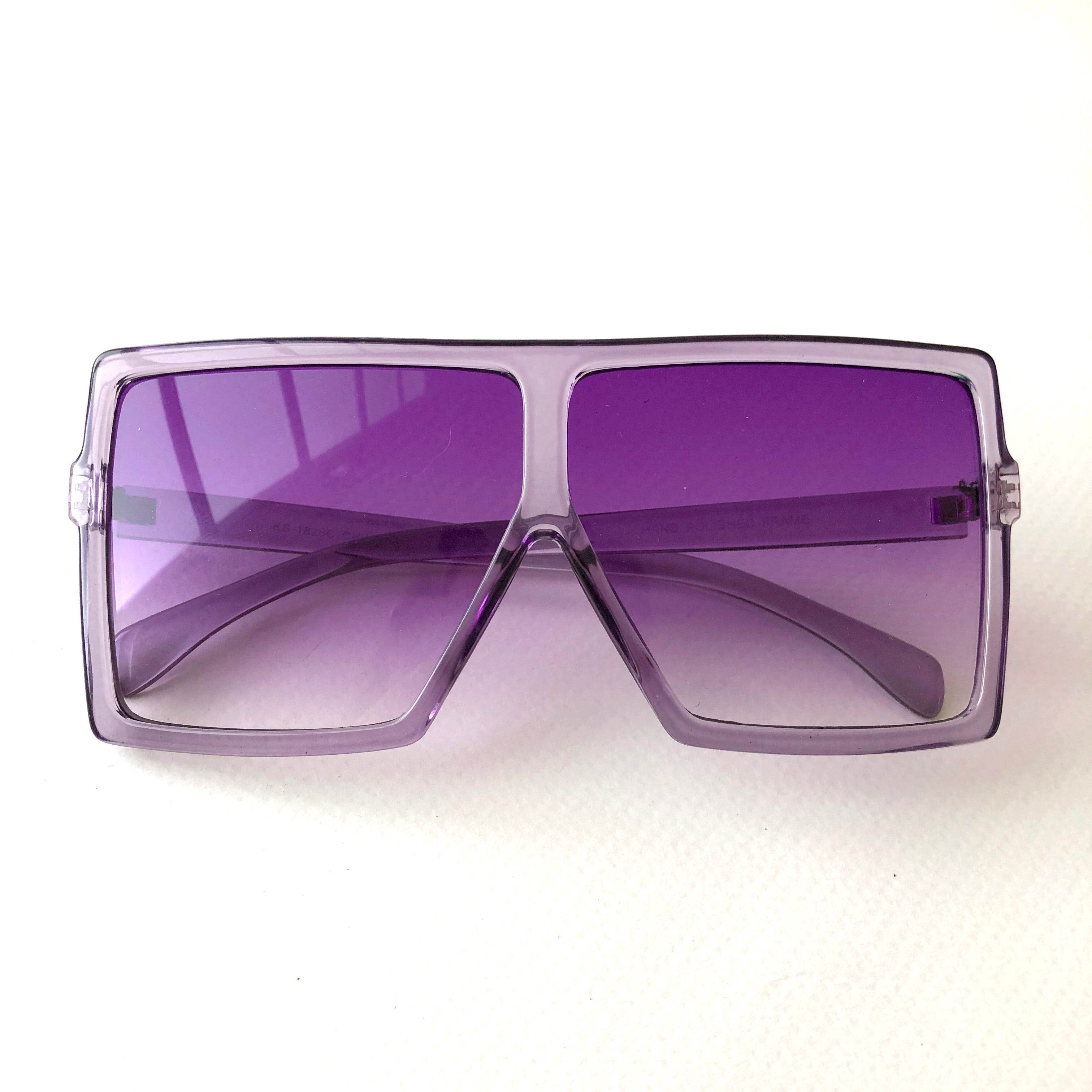 Purple square sunglasses