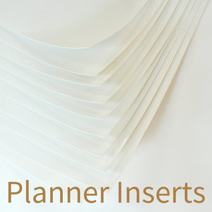 Stone Paper Planner Inserts, Blank.