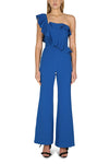 Rebecca Vallance Caspian One Shoulder Jumpsuit in Blue