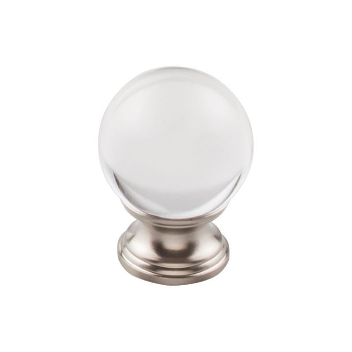 Top Knobs Clarity Clear Glass Round Knob 1 3/8