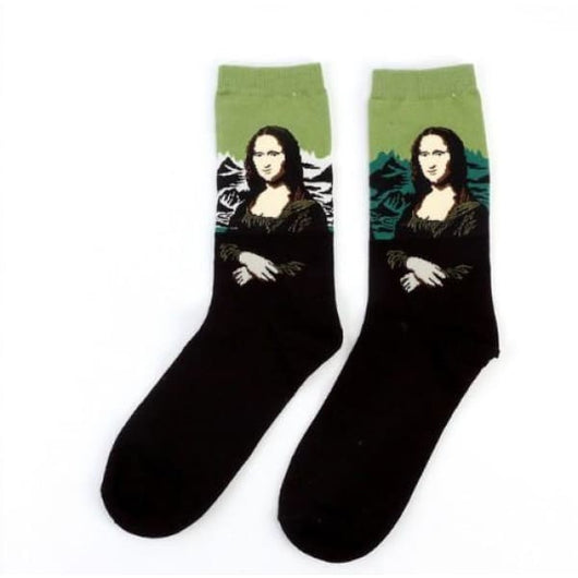Famous Artwork Socks - Mona Lisa (Green) - Havana86