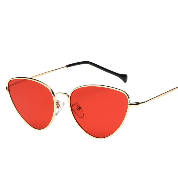Retro Cat Eye Tinted Sunglasses - Havana86