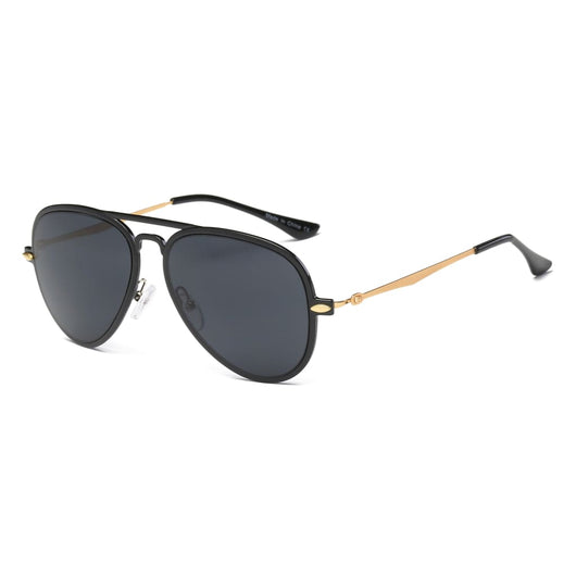 Retro Vintage Aviator Sunglasses - Black - Havana86