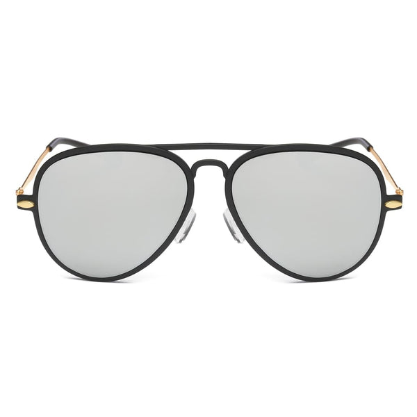 Retro Vintage Aviator Sunglasses - Grey - Havana86