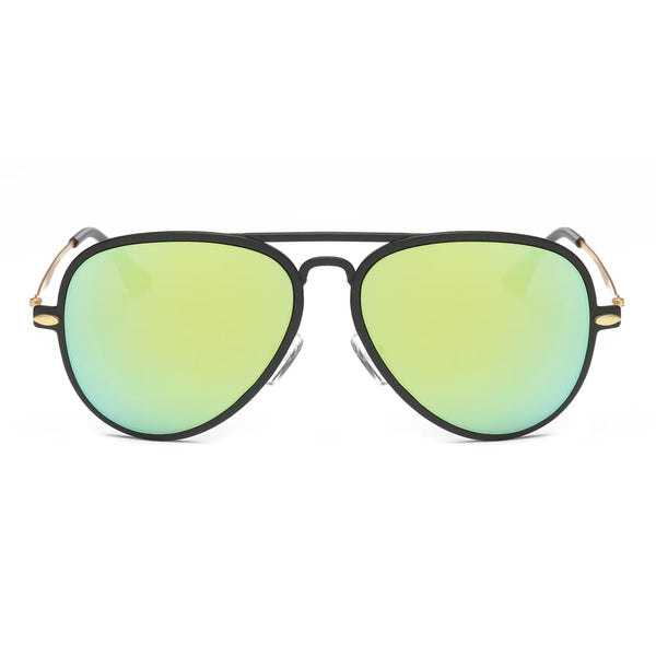 Retro Vintage Aviator Sunglasses - Surf Green - Havana86