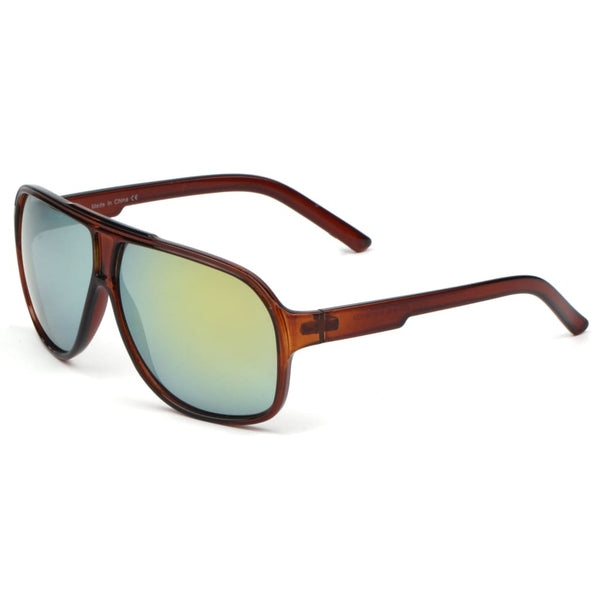 Retro Vintage Oversized Aviator Sunglasses - Havana86