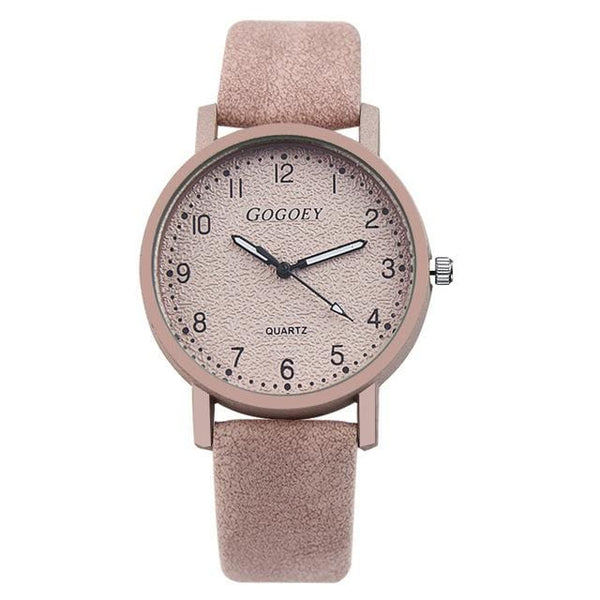 Women's Retro Leather Luxury Quartz Watch - Havana86